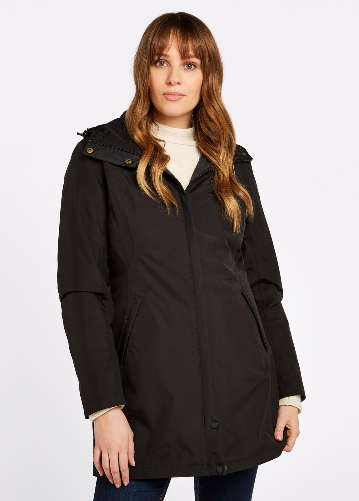 Dubarry_Bunratty_Travel_Coat_Black_on_model