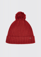Stewart Bobble Hat - Ruby