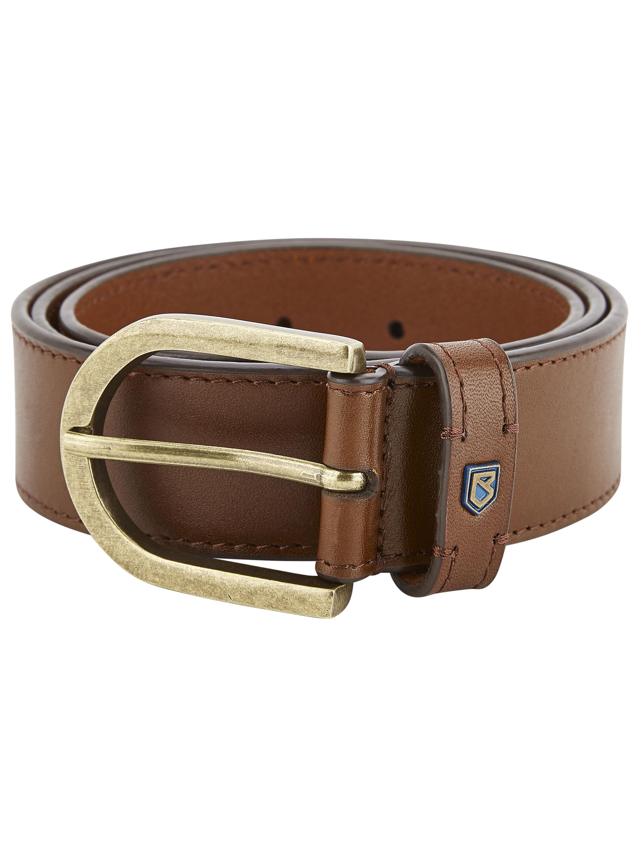 Porthall Leather Belt - Chestnut