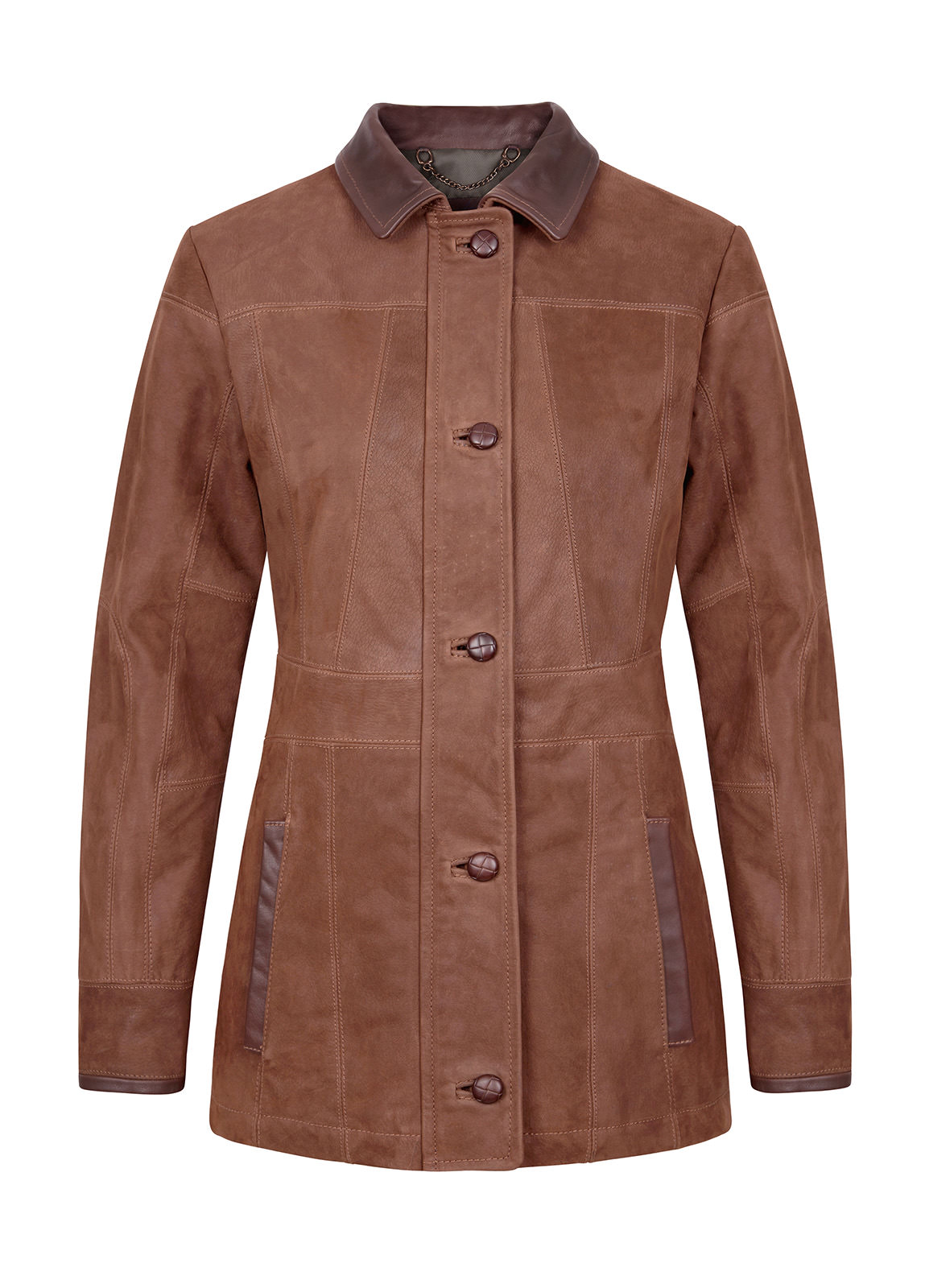 Dubarry_ Goldsmith Ladies Leather Jacket - Walnut_Image_2