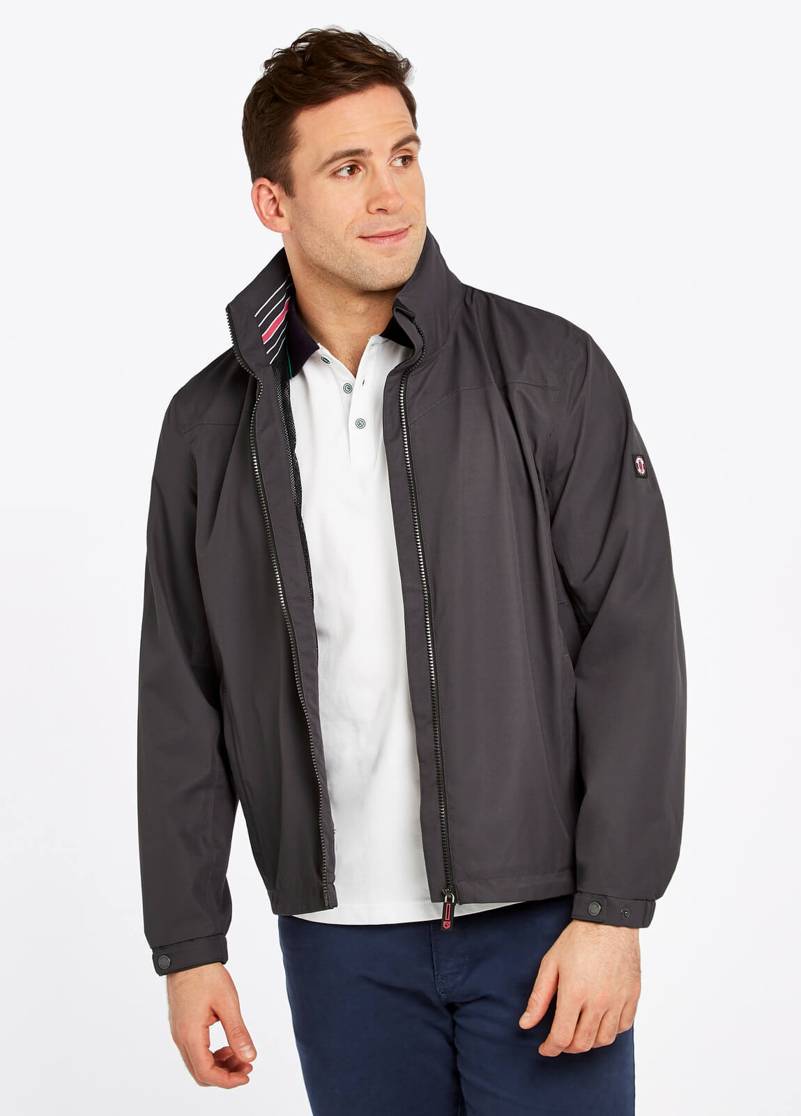 Dubarry_Bundoran_Waterproof_Jacket_Graphite_on_model