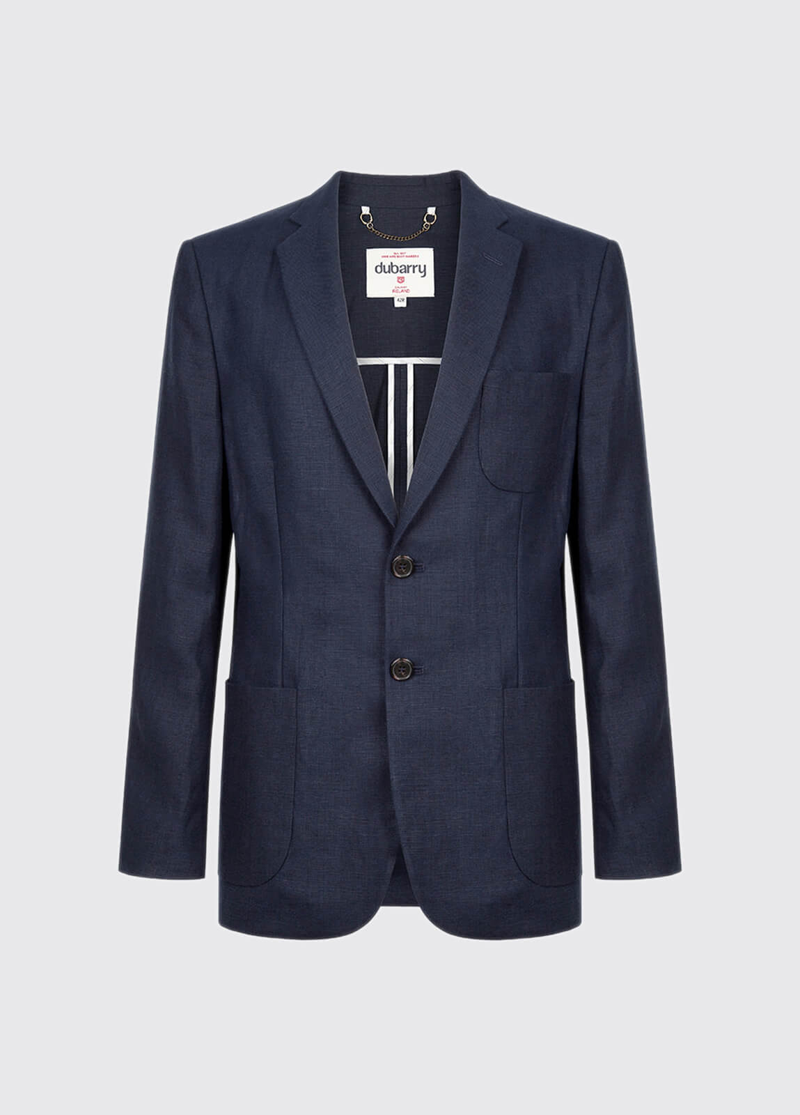 Glen Men's Linen Blazer - Navy