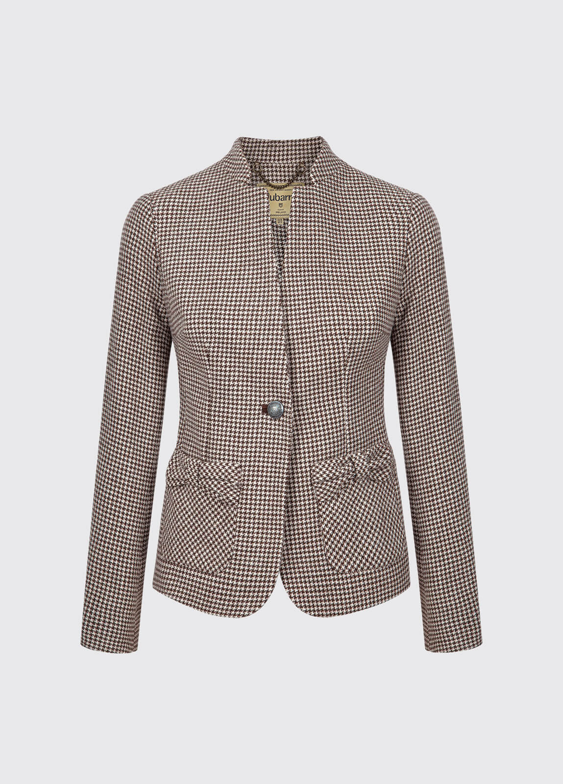 Jasmine Tailored Tweed Jacket - Cafe