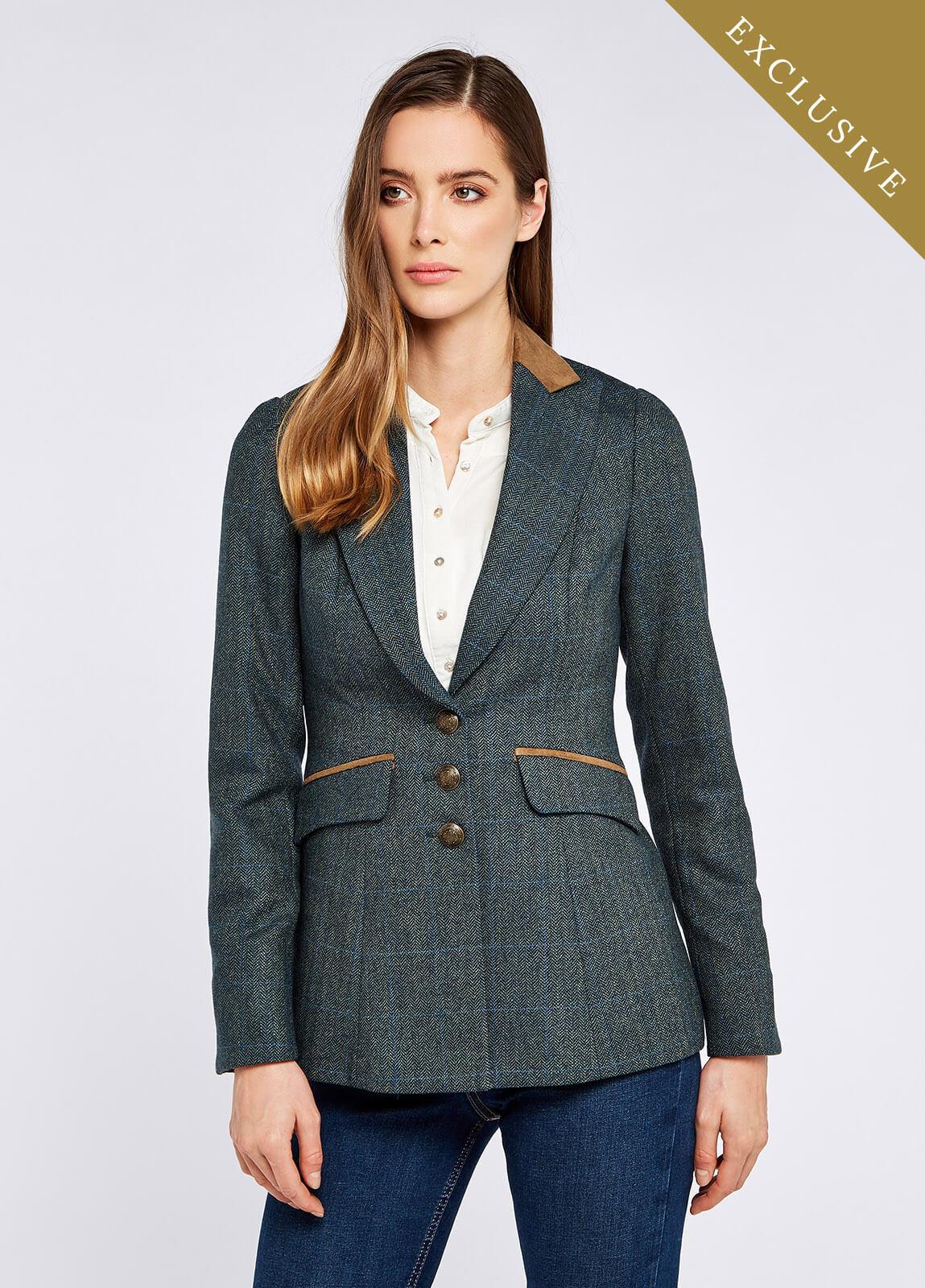 Heather Tweed Jacket - Mist