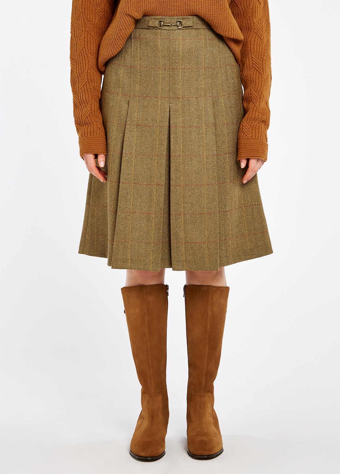 Spruce Tweed Skirt - Elm