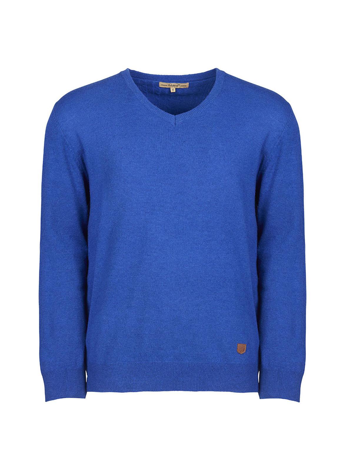 Brennan Men's Knitted Sweater  - Cobalt