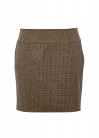 Bellflower Tweed Skirt - Heath