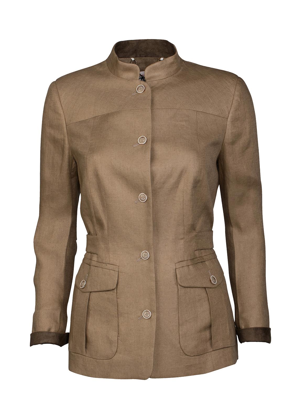 Dubarry_ Malahide Women's Linen Jacket - Ruby Red_Image_2