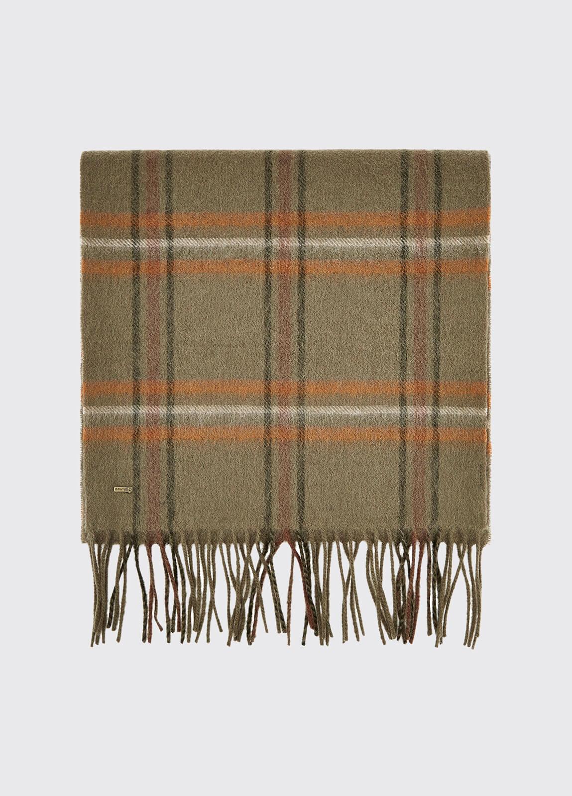 Cullen Wool Scarf - Dusky Green