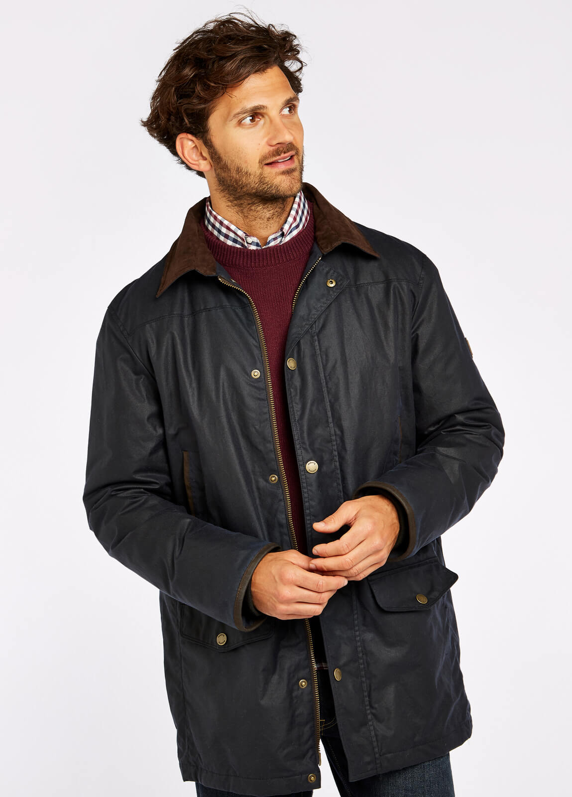 Headford Waxed Jacket - Navy