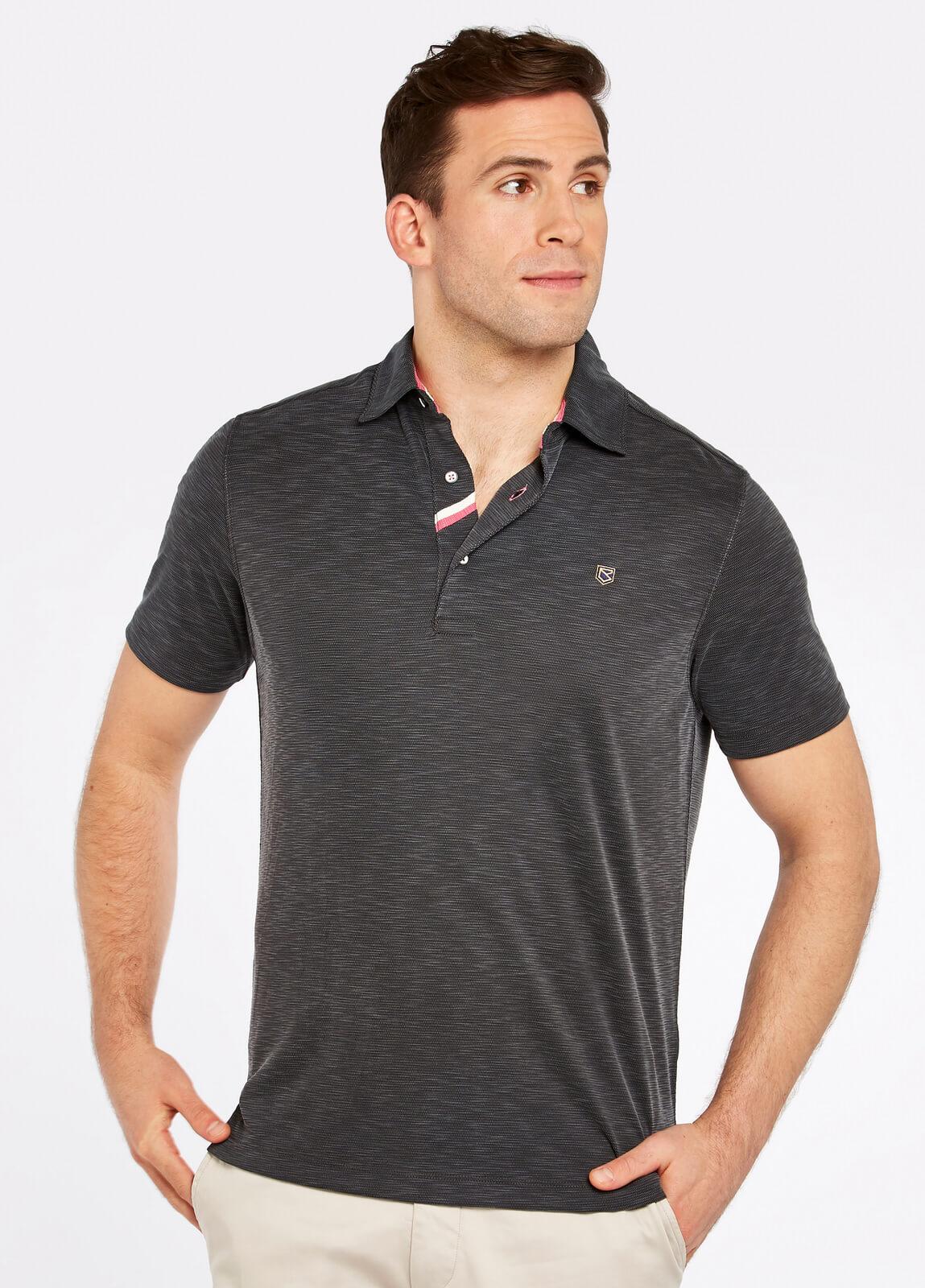 Dubarry_Corbally_Polo_Shirt_Graphite_on_model