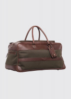Durrow Leather Weekend Bag - Olive