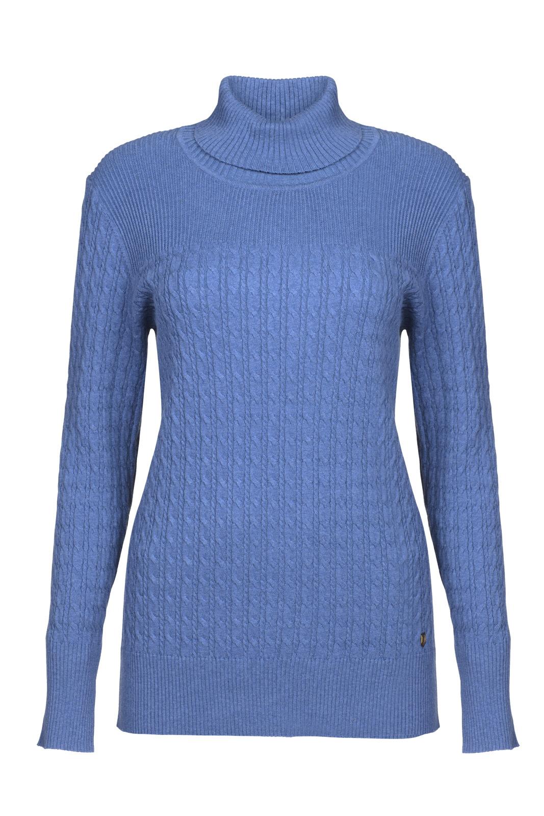 Dubarry_ Boylan Polo Neck Sweater - Denim_Image_2