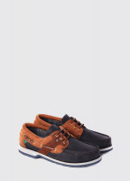 Clipper Deck Shoe - Navy/Brown