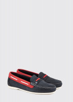 Belize Deck Shoe - Denim/Red