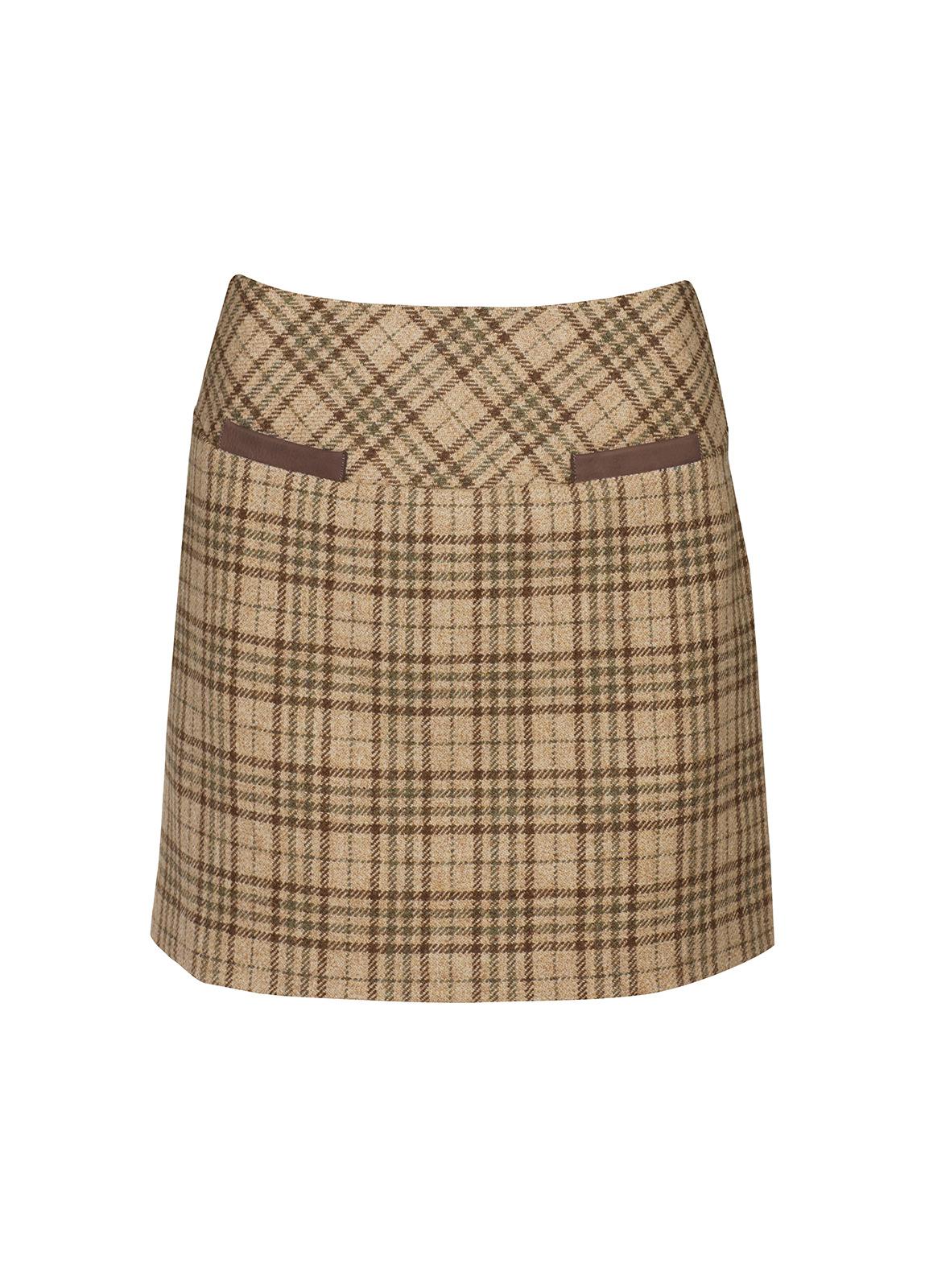 Dubarry_ Clover Tweed Mini Skirt - Pebble_Image_2