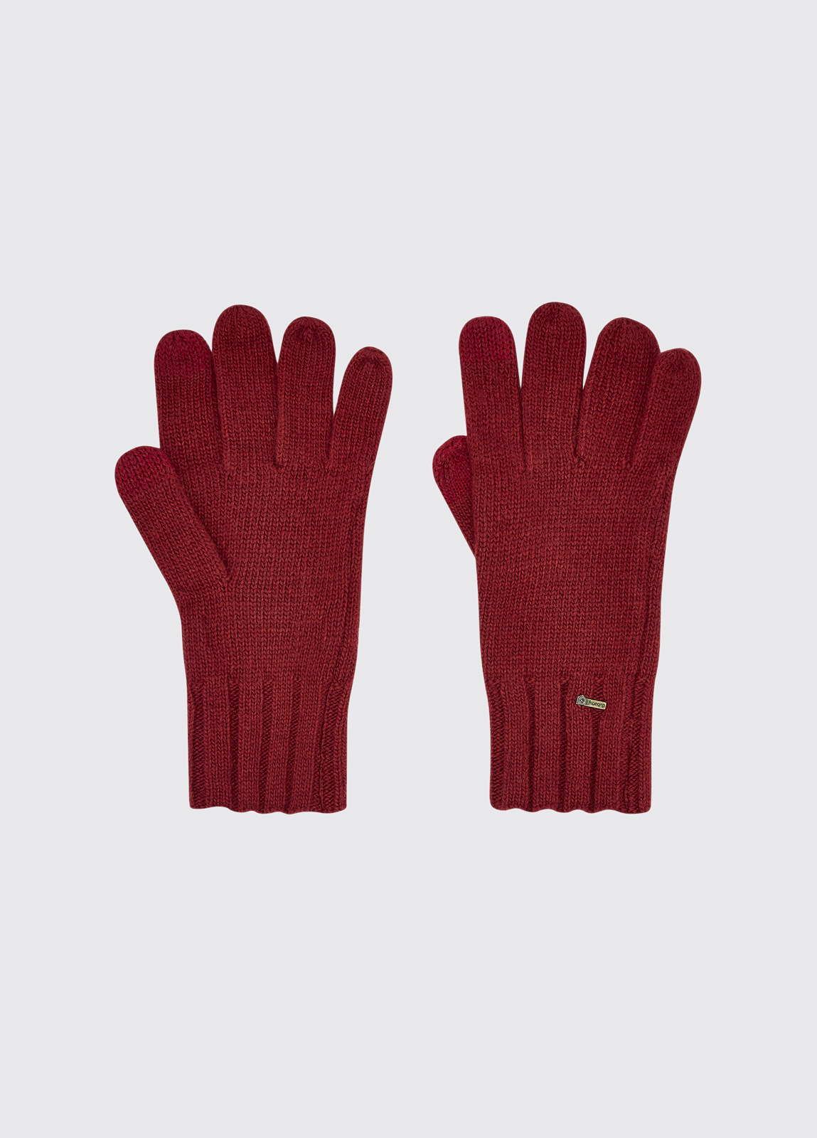 Hayes Knitted Gloves - Ruby