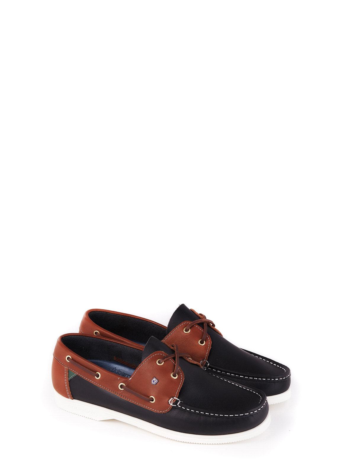 Admirals Deck Shoe - Navy/Brown