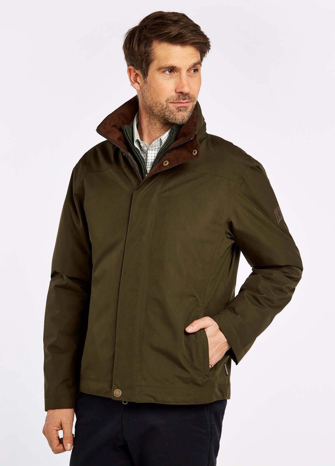 Dubarry_Palmerstown_Jacket_Olive_on_model
