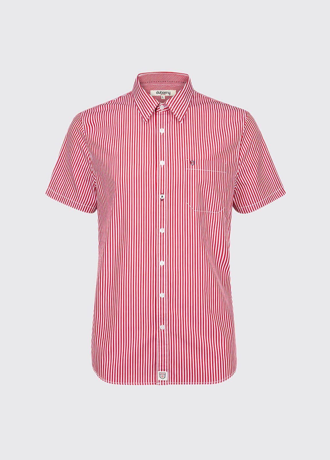 Blackrock Short-Sleeved Striped Shirt - Red Multi