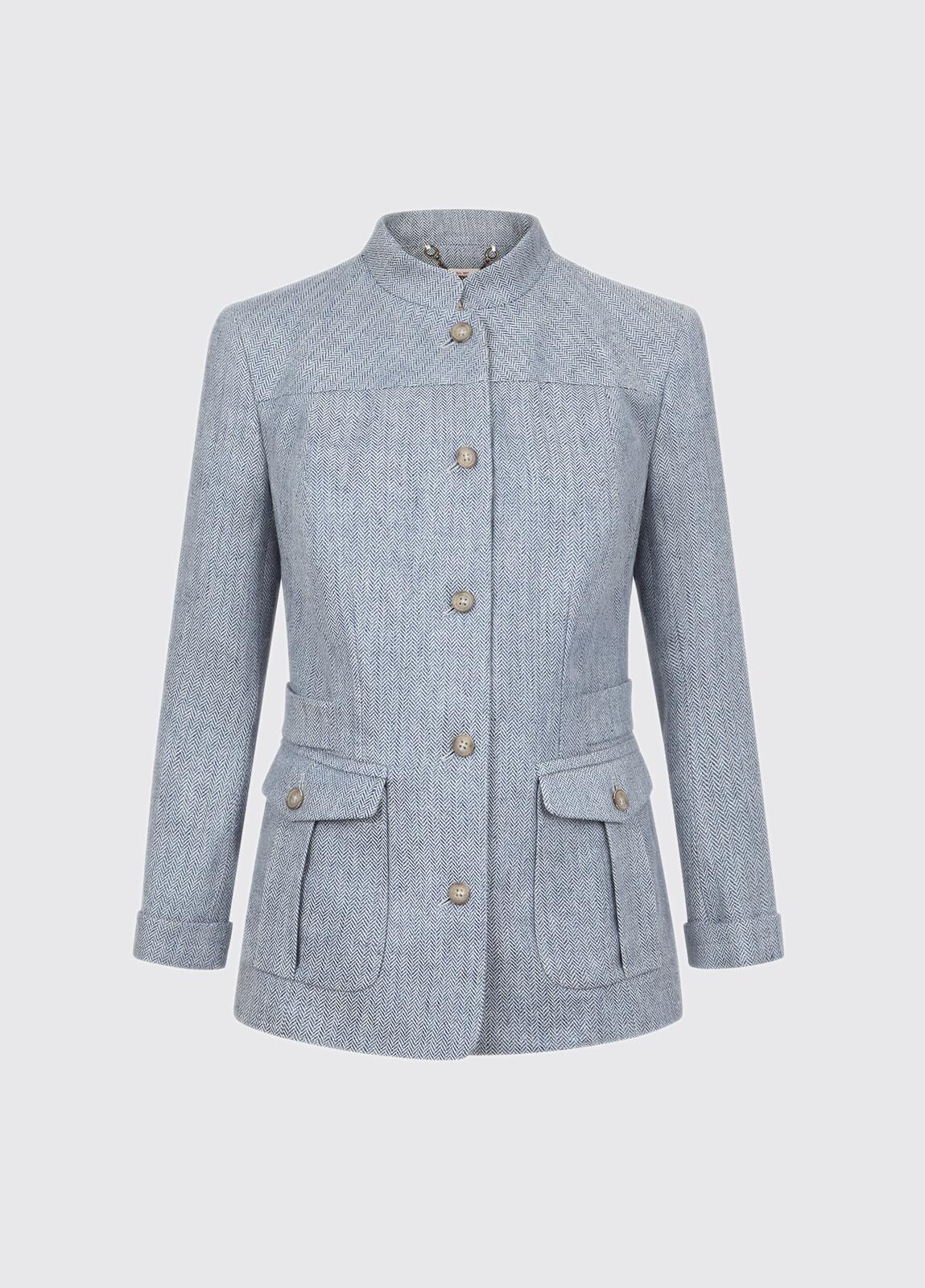 Malahide Women's Linen Jacket - Blue