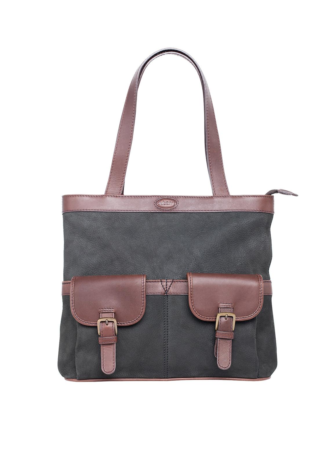 Dubarry_ Raheen Tote-Style Shoulder Bag - Black/Brown_Image_1