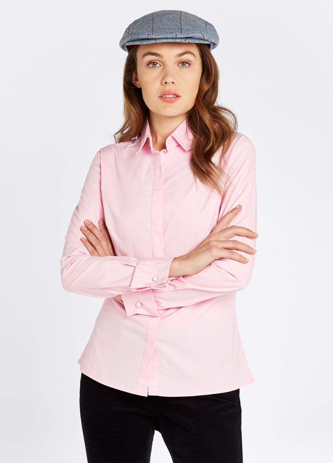 Dubarry_Daffodil_Shirt_Pale_Pink_on_model