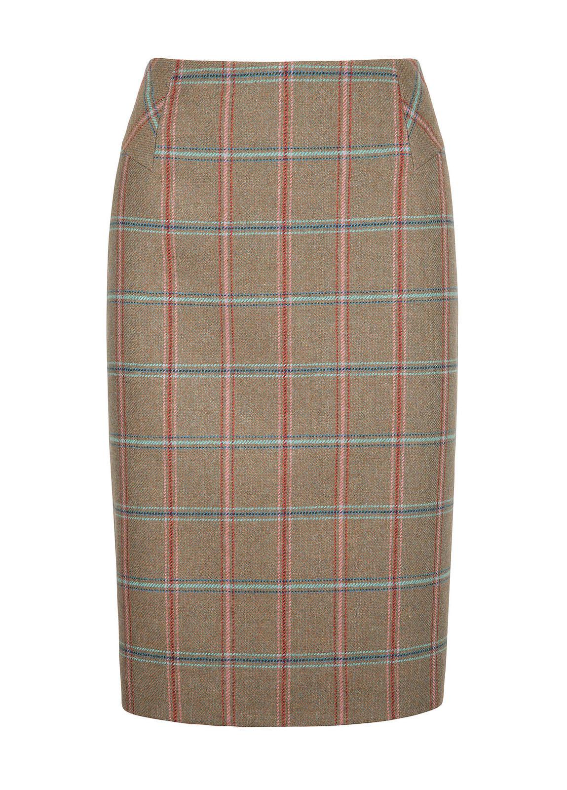 Fern Tweed Skirt - Olive