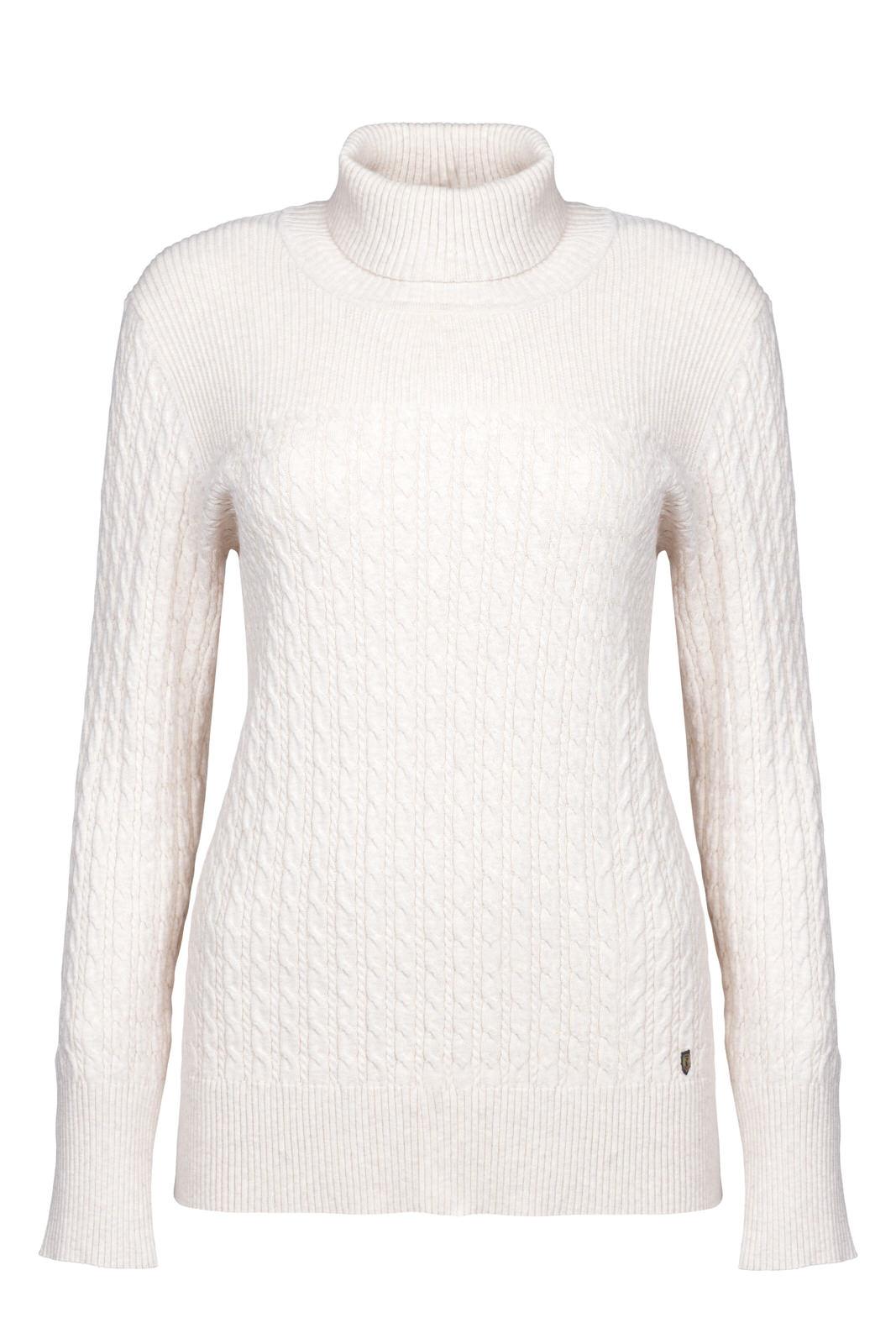Dubarry_ Boylan Polo Neck Sweater - Oyster_Image_2