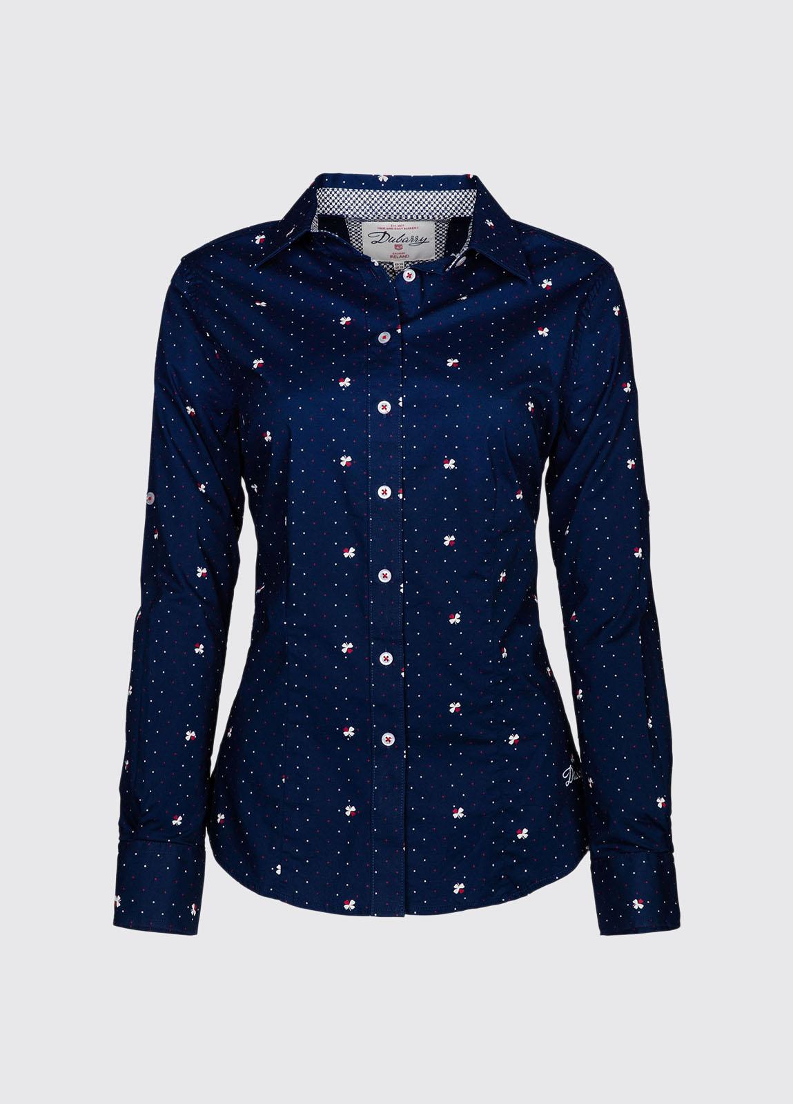 Azalea Printed Shirt - Navy