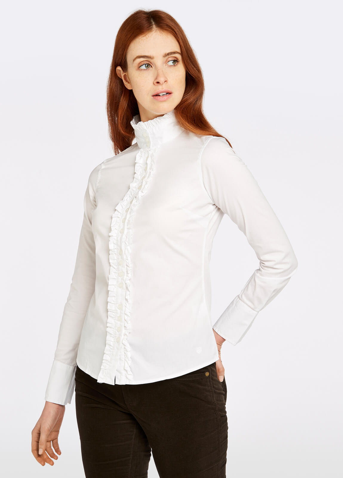 Dubarry_Chamomile_Shirt_White_on_model