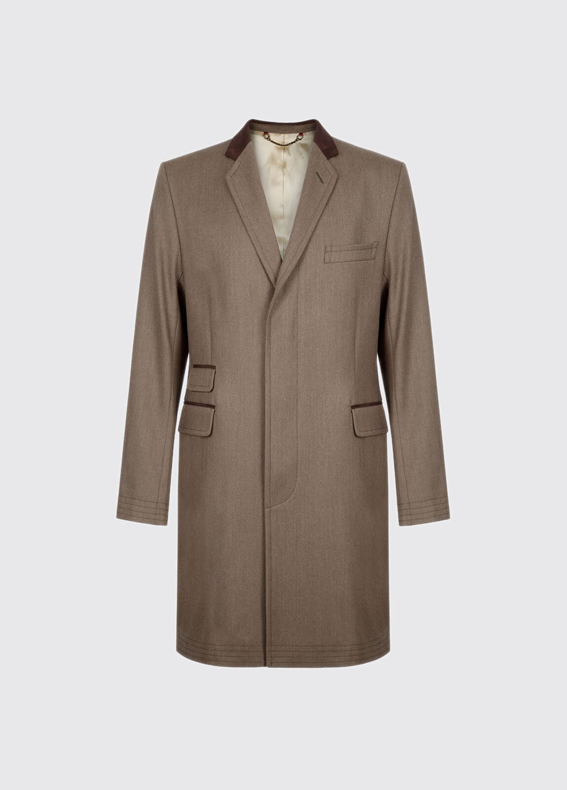 Woodlawn Mens Covert Coat - Loden