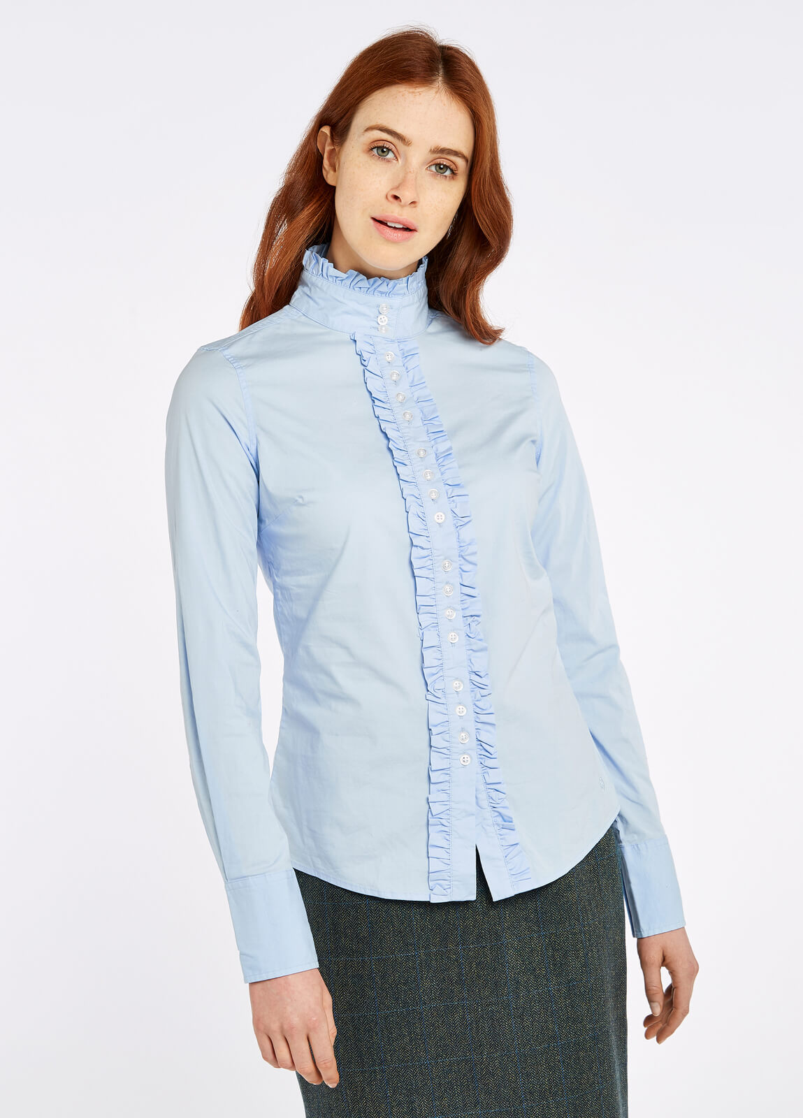 Dubarry_Chamomile_Shirt_Pale_Blue_on_model