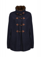 Samphire Tweed Cape - Navy