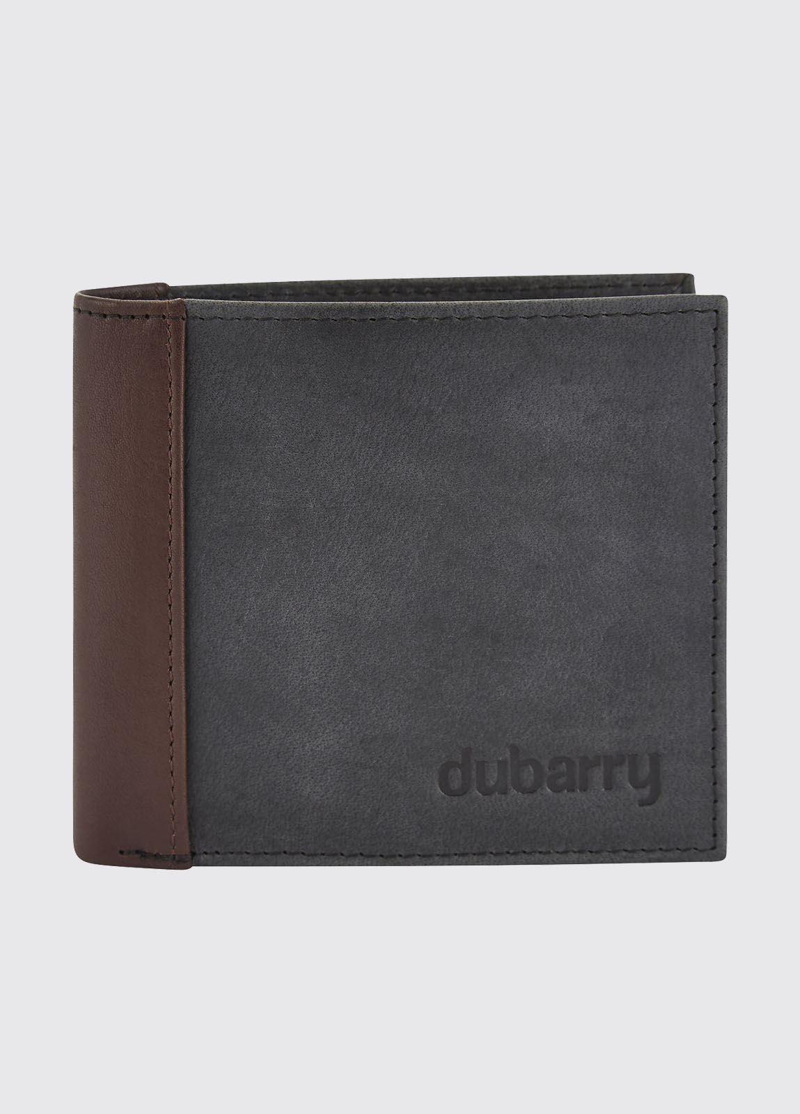 Rosmuc Leather Wallet - Black/Brown