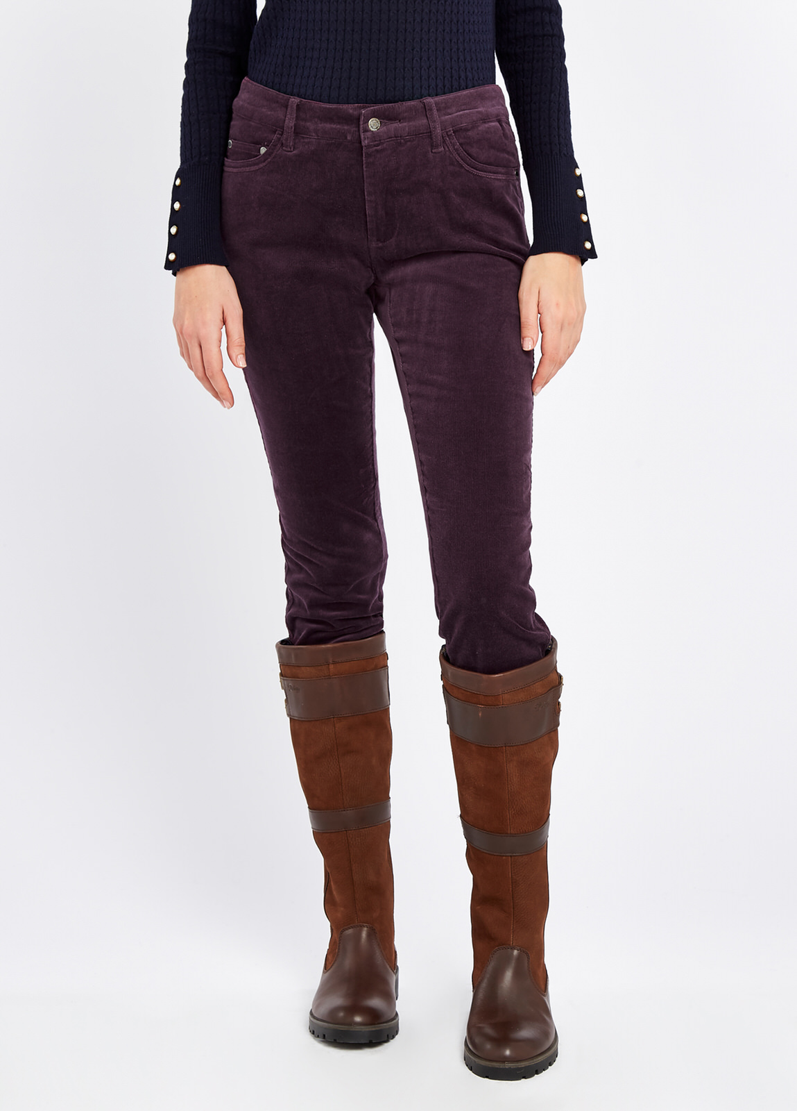 Dubarry_Honeysuckle_Jeans_Plum_on_model