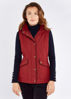 Clonmel Quilted Gilet - Ruby