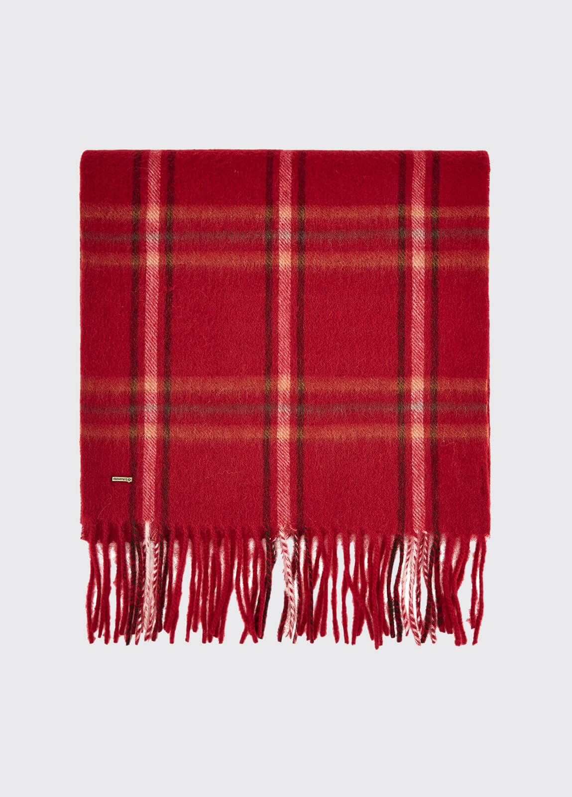 Cullen Wool Scarf - Ruby