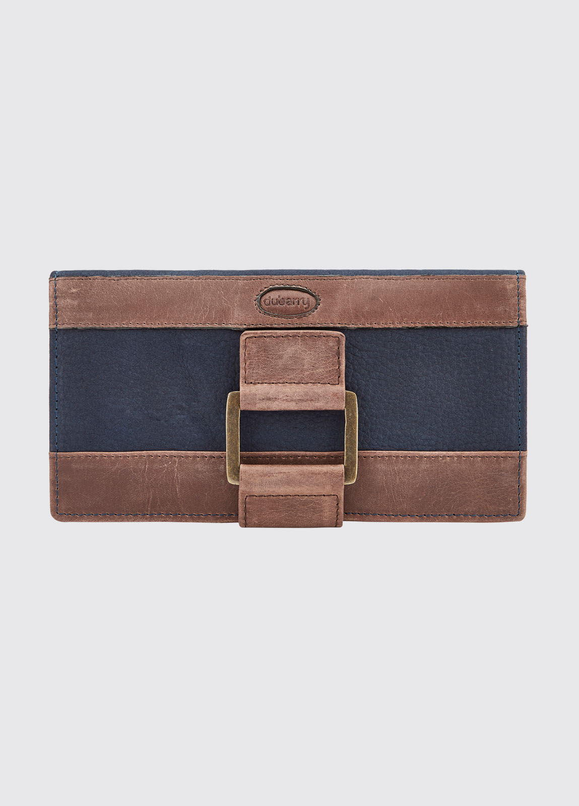 Dunbrody Leather Purse - Navy/Brown