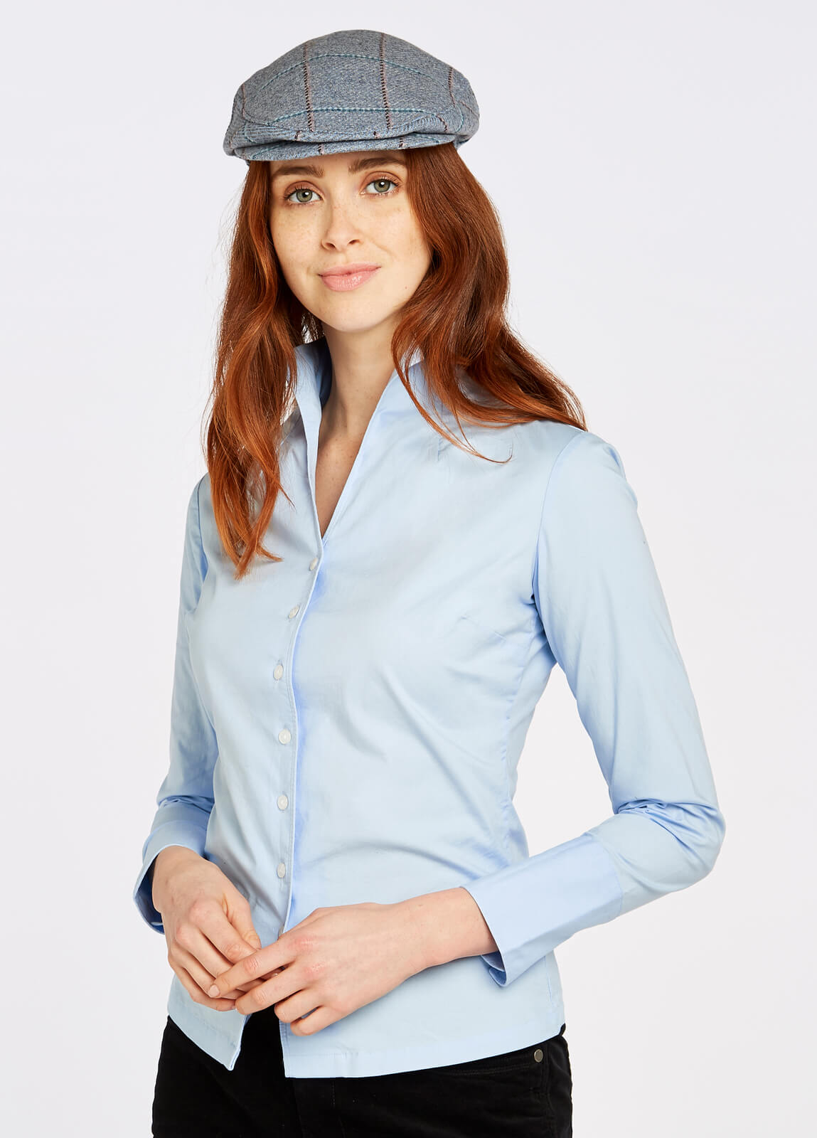 Dubarry_Snowdrop_Shirt_Pale_Blue_on_model