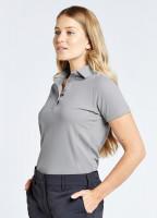 Riviera Women's Technical Polo - Platinum