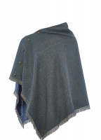 Hazelwood Tweed Poncho - Mist