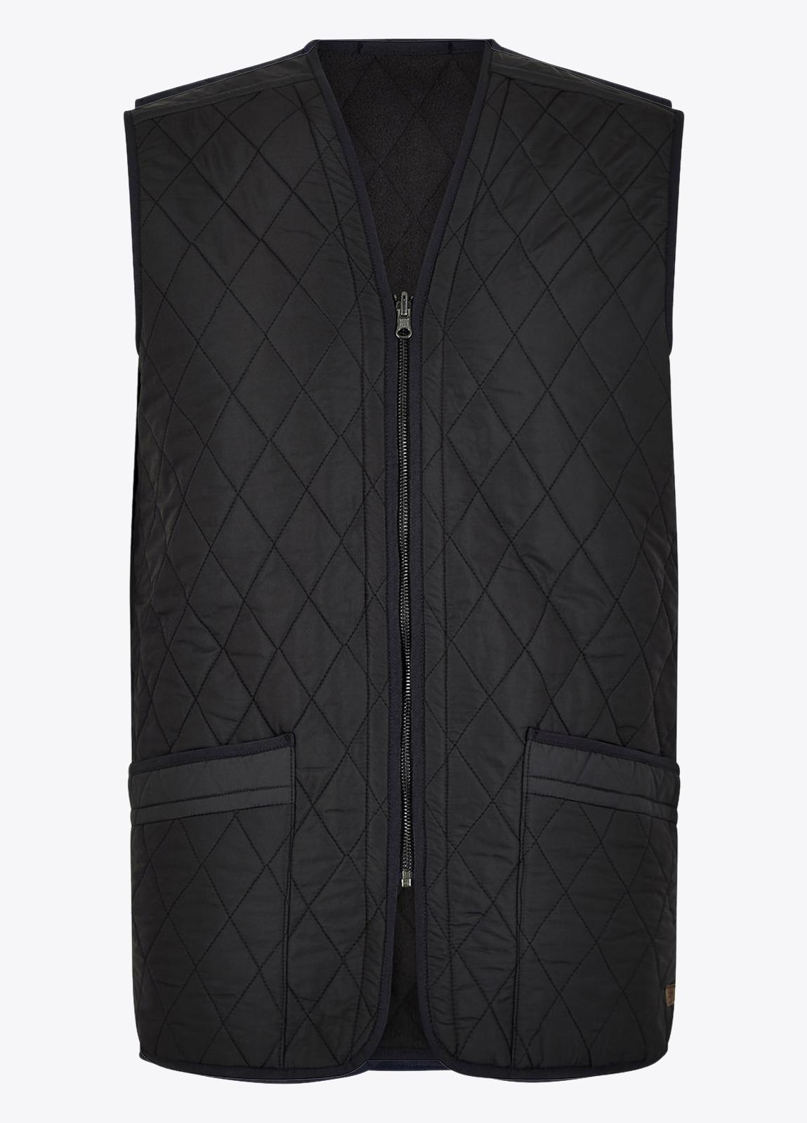 Ballygar_Quilted_Waistcoat_Black_on_model