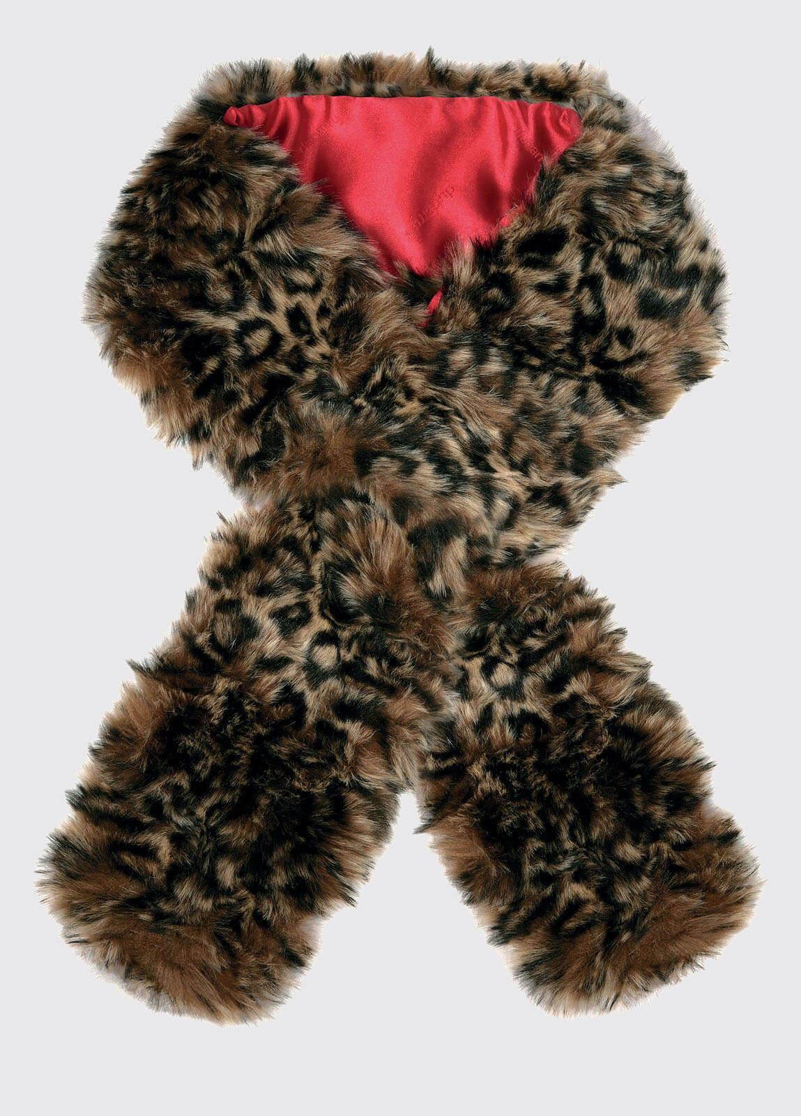 Faux Fur Scarf - Leopard