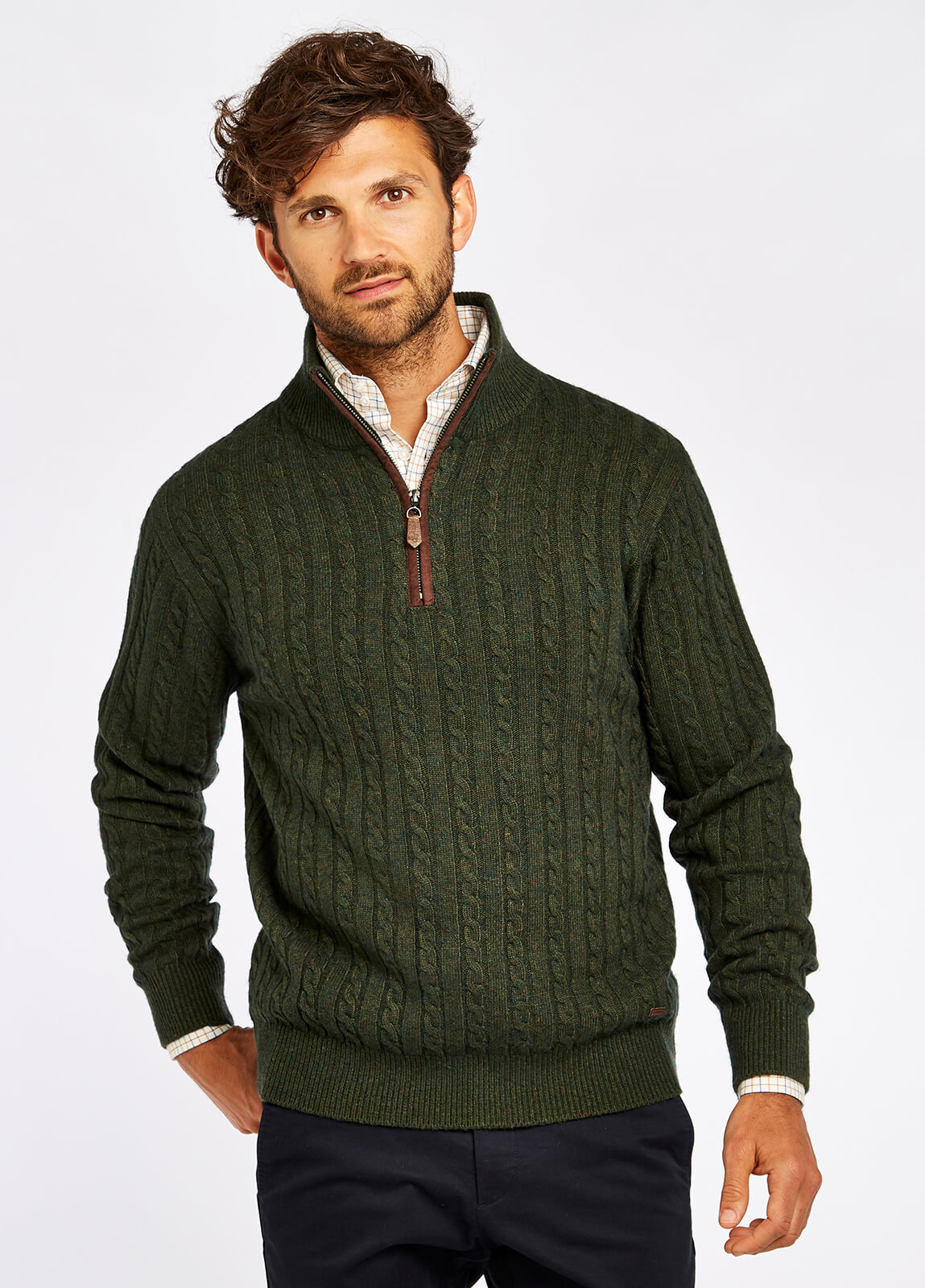 Thompson Knitted Sweater - Olive