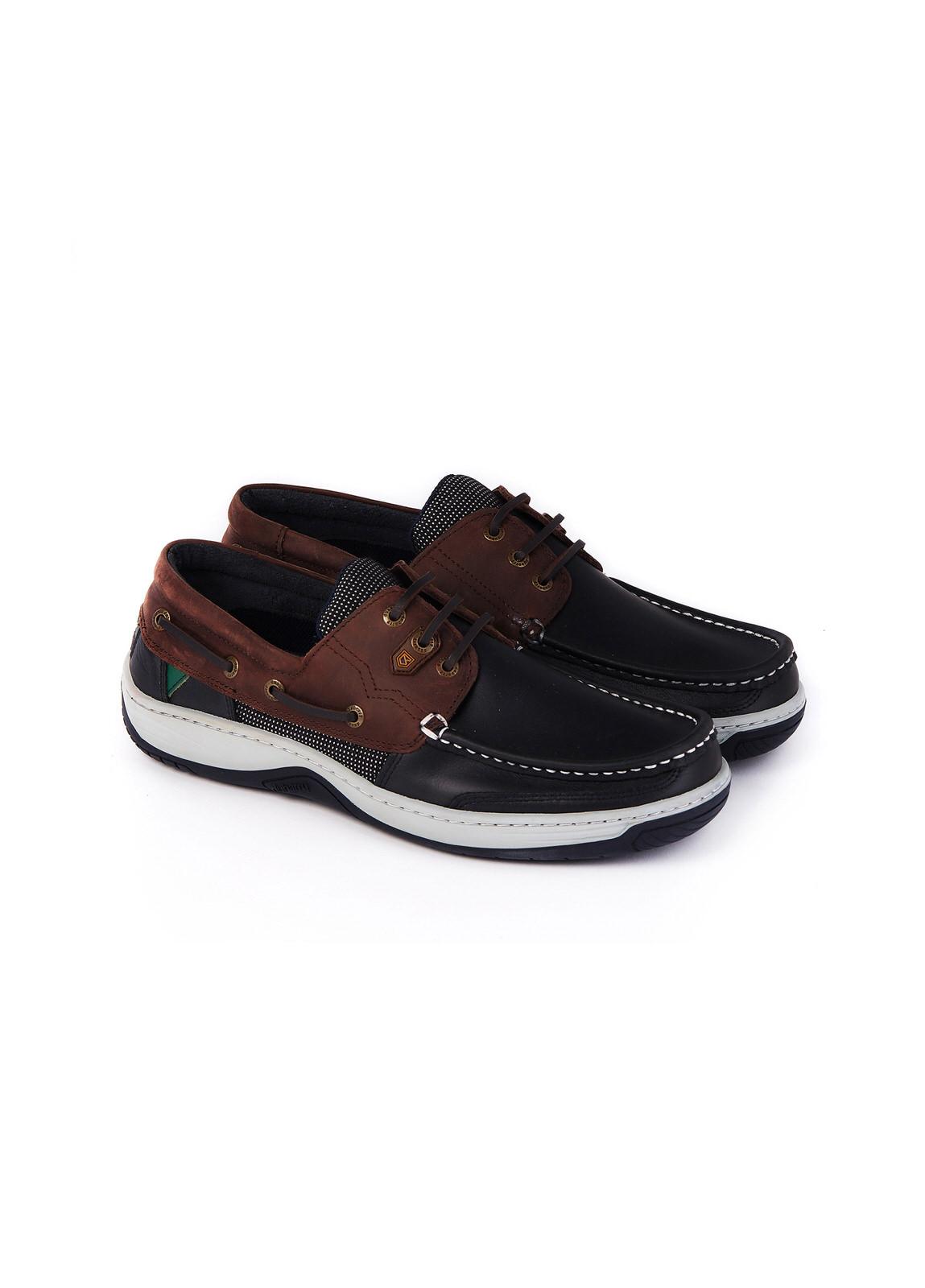 Regatta_Deck_Shoe_Navy/Brown_Image_1