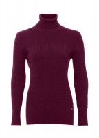 Boylan Polo Neck Sweater - Malbec