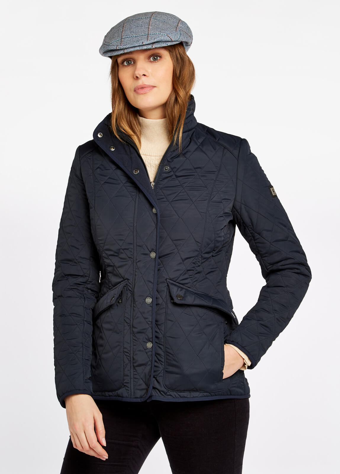 Dubarry_Bettystown_Quilted_Coat_Navy_on_model