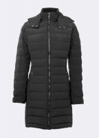 Devlin Quilted Coat - Black