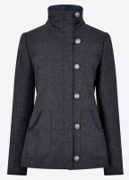 Bracken Tweed Coat - Graphite
